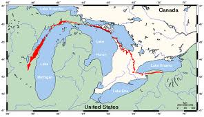 This escarpment extends for hundreds of miles. This sedimentary formation covers a good part of North America