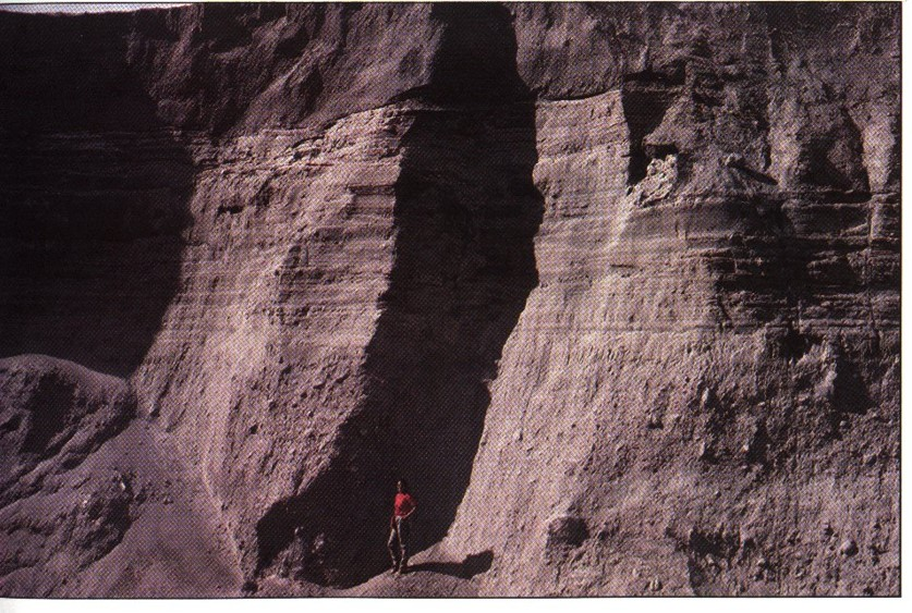 Sedimentary strata formed in 1980 from Mount St Helens had already become brittle by 1983
